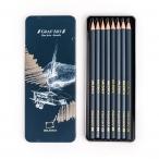 Набор карандашей Малевичъ Graf Art 8шт., чернографитные, металлическая коробка