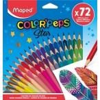 Карандаши 72 цв. MAPED Color Peps из липы,  треуг., ударопроч., в метал. тубусе- подставке