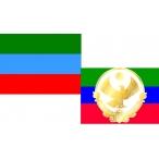 Флаг Дагестана  22х15 (полиэфирный шёлк)