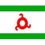 Флаг Ингушетии 150х100 (полиэфирный шёлк)