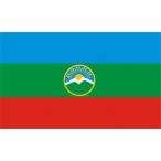 Флаг Карачаево-Черкессия  22х15 (полиэфирный шёлк)