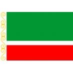 Флаг Чеченская Республика  22х15 (полиэфирный шёлк)