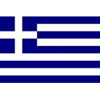 Флаг Греция  22х15 (полиэфирный шёлк)