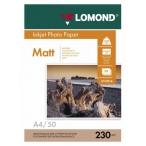 Фотобумага Lomond А4 230гр. 50л. односторонняя матовая, европодвес