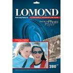 Фотобумага Lomond А4 280гр. 20л. Super Glossy для струйн/печ., глянцевая односторонняя, европодвес