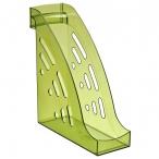 Лоток д/бумаг Стамм Торнадо вертикальный, тонированный, зеленый, лайм