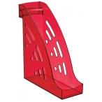 Лоток д/бумаг Стамм Торнадо вертикальный, тонированный, темно-красный, вишня