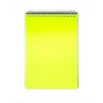 Блокнот  А5  Хатбер 80л. спираль Dimond Neon желтый, пластиковая обложка