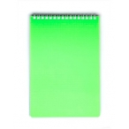 Блокнот  А5  Хатбер 80л. спираль Dimond Neon зеленый, пластиковая обложка