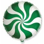 Шар воздушный Flexmetal Леденец зеленый, 18''/46см.