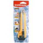 Нож канцелярский Erich Krause 18мм Universal auto-lock ассорти блистер, европодвес