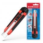 Нож канцелярский Erich Krause 18мм Arrow auto-lock красный, европодвес
