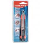 Нож канцелярский Erich Krause 9мм Arrow auto-lock красный, европодвес