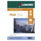 Фотобумага Lomond А4 180гр. 50л. односторонняя матовая, европодвес