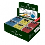 Ластик-клячка Faber Castell художественный, набор цветов, в индивидуальной упаковке,