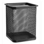 Подставка Erich Krause  д/пишущих принадлежностей, квадратная, черная, металл