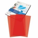 Обложка А4 прозрачные ,красные  пвх 0,18мм.