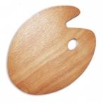 Палитра Малевичъ овальная, деревянная, 40х30 см.