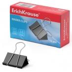 Зажим 25мм Erich Krause черный 12шт/уп.