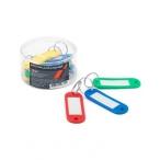 Брелоки для ключей Хатбер цветные, пластик, 12шт., 22х50мм.,  в пластик.боксе