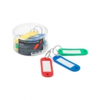 Брелоки для ключей Хатбер цветные, пластик, 12шт., 21х60мм.,  в пластик.боксе