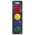 Набор магнитов Хатбер 4см., 4шт., цветные, европодвес