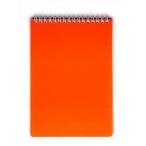 Блокнот  А5  Хатбер 80л. спираль Dimond Neon оранжевый, пластиковая обложка