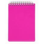 Блокнот  А6  Хатбер 80л. спираль Diamond Neon розовый, пластиковая обложка