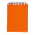 Блокнот  А6  Хатбер 80л. спираль Diamond Neon оранжевый, пластиковая обложка