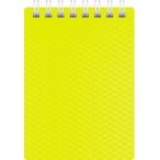 Блокнот  А7  Хатбер 80л. спираль Diamond Neon желтый, пластиковая обложка