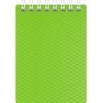 Блокнот  А7  Хатбер 80л. спираль Diamond Neon зеленый, пластиковая обложка
