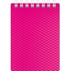 Блокнот  А7  Хатбер 80л. спираль Diamond Neon розовый, пластиковая обложка
