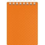 Блокнот  А7  Хатбер 80л. спираль Diamond Neon оранжевый, пластиковая обложка