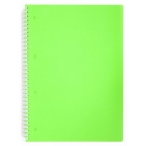 Тетрадь А4 80л. Хатбер на спирали Diamond Neon зеленая, клетка, пластиковая обложка