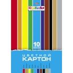 Картон А4 Хатбер 10цв -10л. Creative Set  в папке