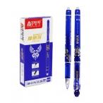 Ручка гелевая Miraculous пиши-стирай, синяя, мат.корп., с рисунком, 0.35мм.