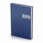 Книга учета А4 240л. Альт б/в. синий линия