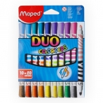 Фломастеры 20цв Maped Duo двусторонние