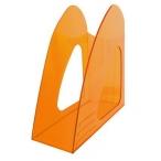 Лоток д/бумаг Хатбер вертикальный, оранжевый, тонированный, 235*90*240