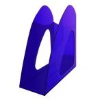 Лоток д/бумаг Хатбер вертикальный, синий, тонированный, 235*90*240