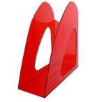 Лоток д/бумаг Хатбер вертикальный, красный, тонированный, 235*90*240