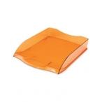 Лоток д/бумаг Хатбер горизонтальный, оранжевый, тонированный, 340х280х70