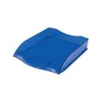 Лоток д/бумаг Хатбер горизонтальный, синий, тонированный, 340х280х70