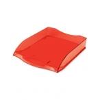 Лоток д/бумаг Хатбер горизонтальный, красный, тонированный, 340х280х70