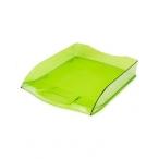 Лоток д/бумаг Хатбер горизонтальный, зеленый, тонированный, 340х280х70