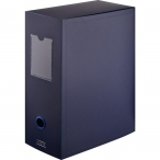 Короб архивный Attache А4 синий, 70мм., пластик, на кнопке