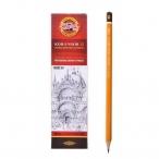 Карандаш  Koh-I-Noor 1500 3H  деревянный лакированный корпус