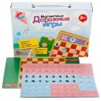 Игра дорожная10 Королевство Шахматы, шашки, кто первый, крестики-нолики магнитная