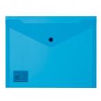 Папка-конверт А5 на кнопке синяя, 180мкм, 19х24