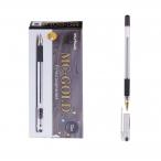 Ручка шариковая MC Gold черная, грип, 0,5мм.